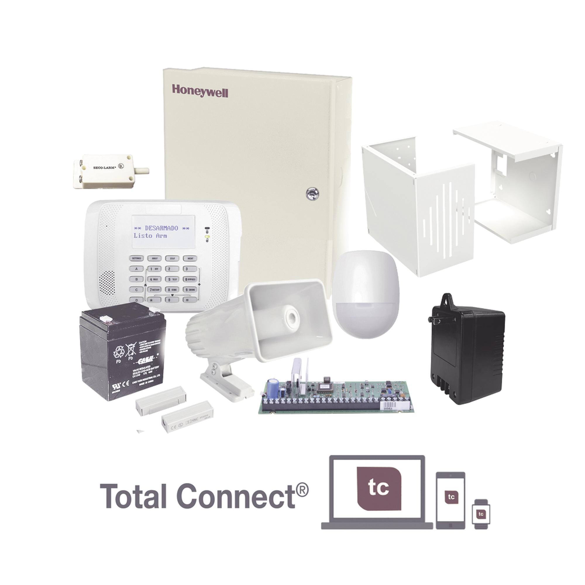 Kit de Alarma Residencial con Sensor de Movimiento y Contactos Magnéticos, Incluye Sirena, Batería y Transformador