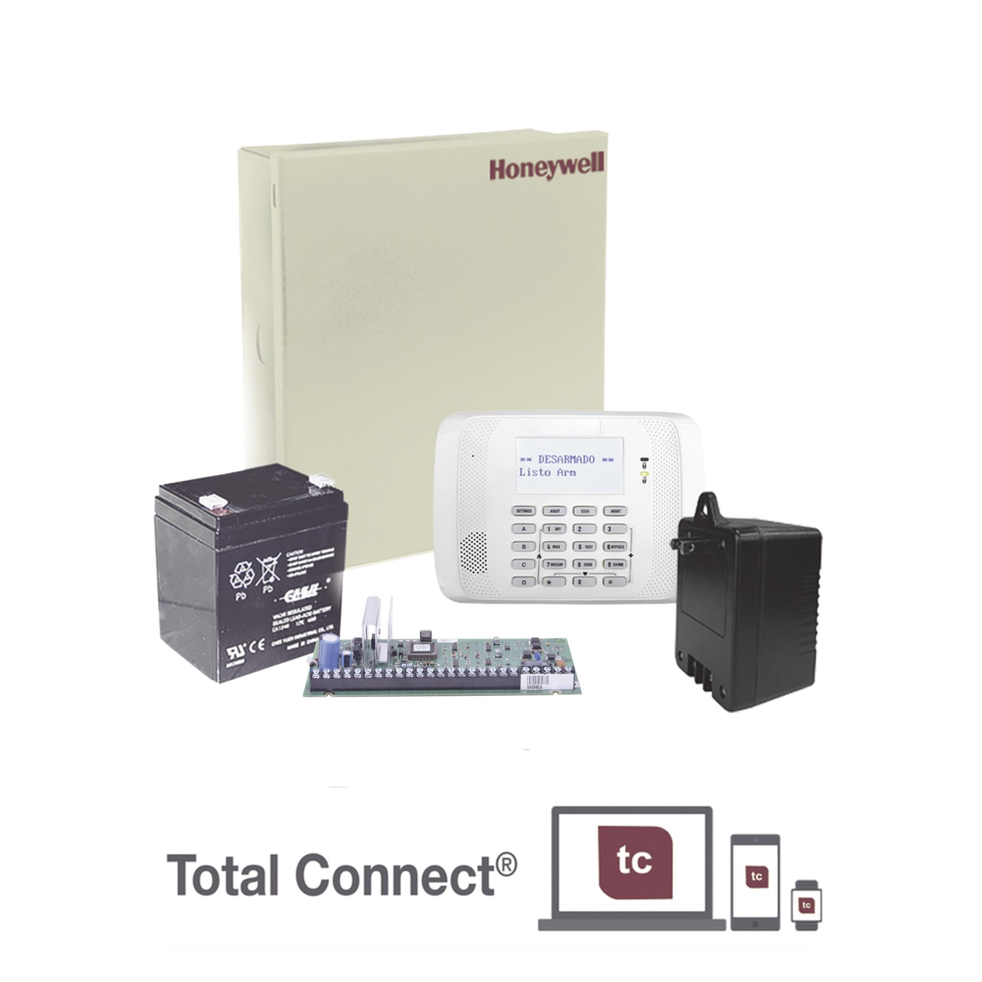Kit de Panel de Alarma VISTA48LA con Gabinete, Batería y Transformador