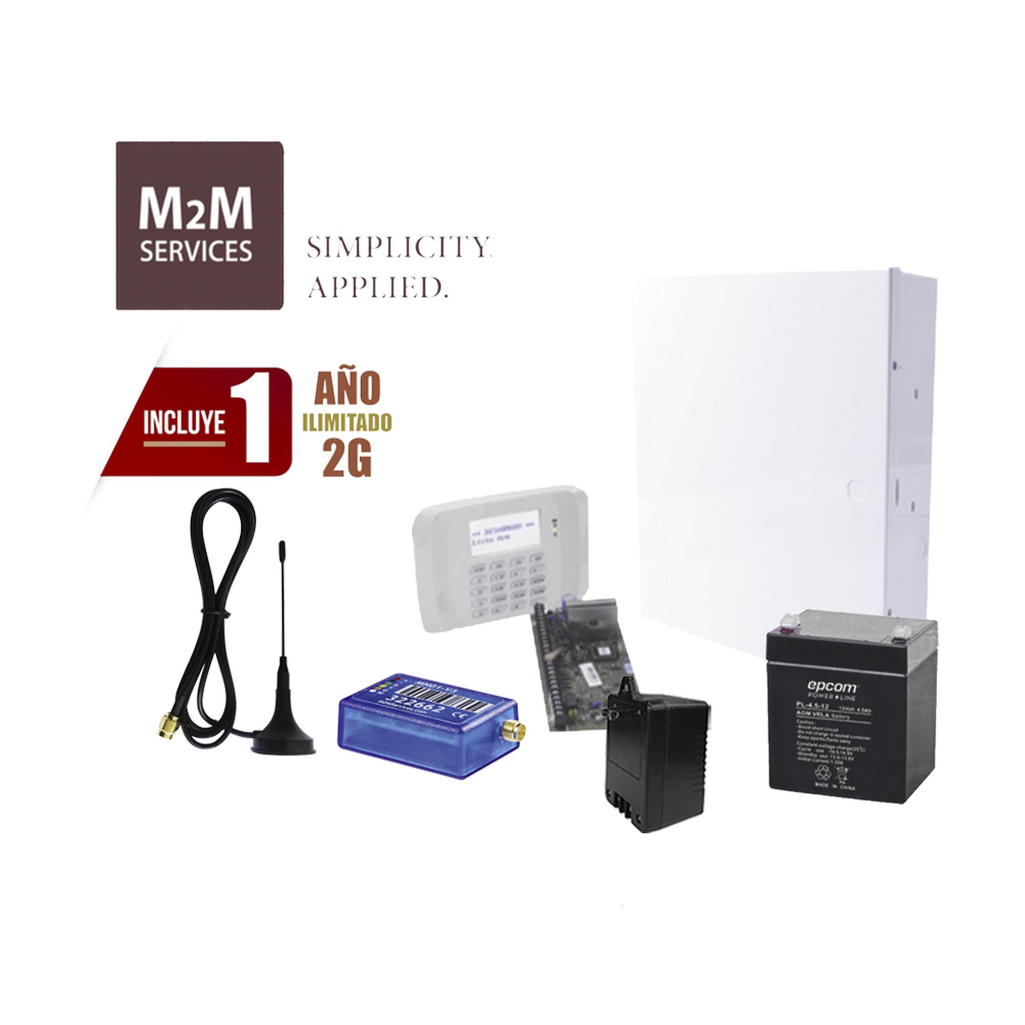 (2 Años datos ILIMITADO INCLUIDO)  Kit Vista48LA con comunicador MN02LTEM, Teclado, Gabinete, Batería y Transformador