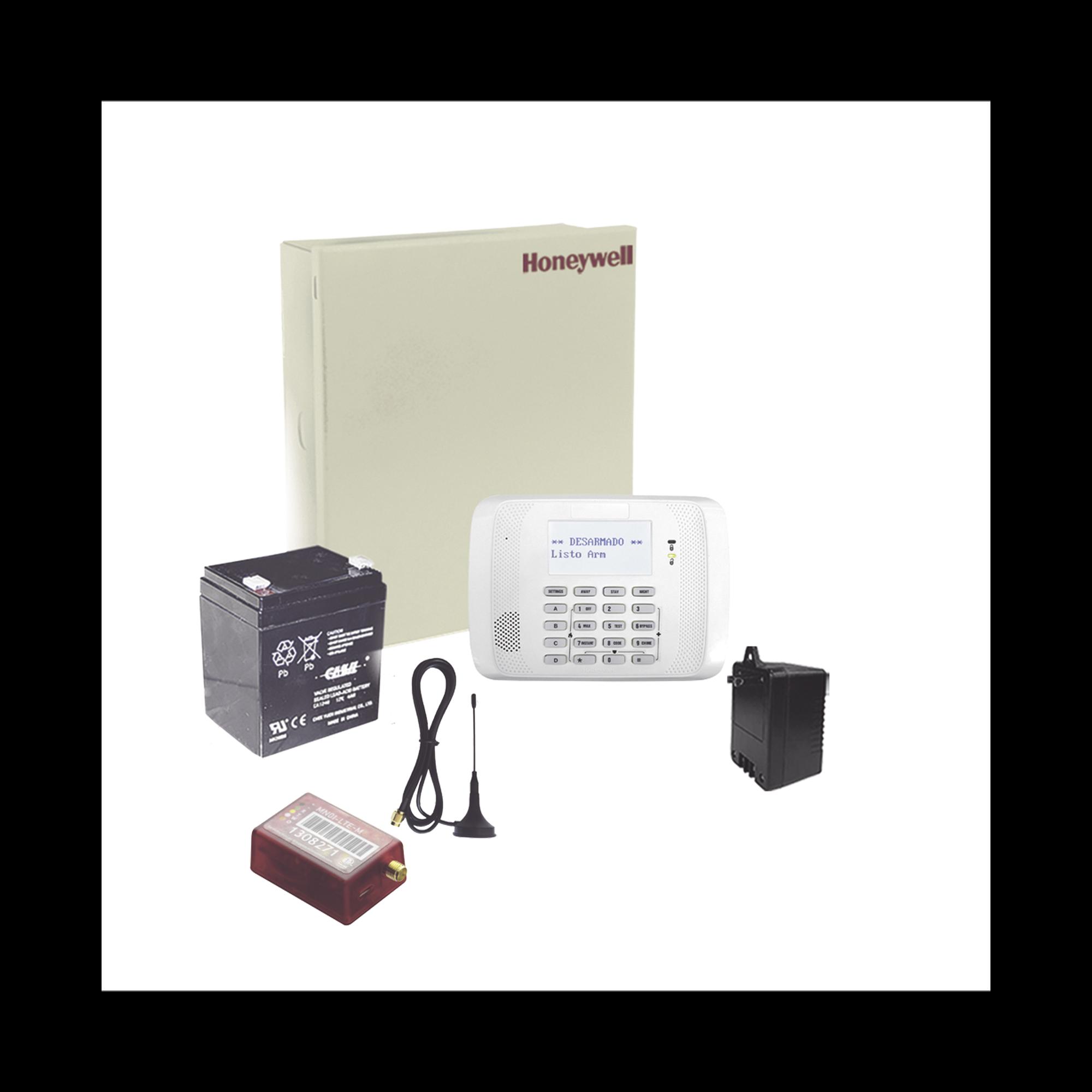 (2 Años 4GLTEM/5G ILIMITADO INCLUIDO)  Kit Vista48LA con comunicador 4GLTEM/5G MN02, Teclado, Gabinete, Batería y Transformador