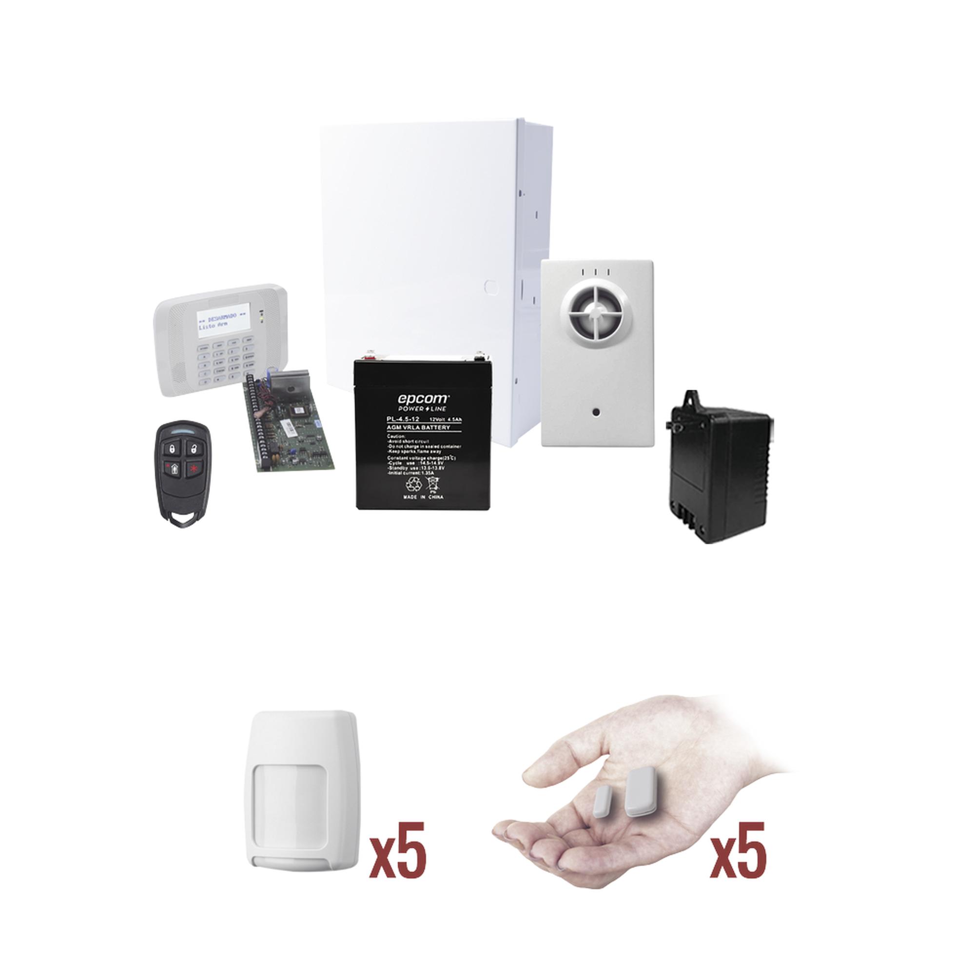 KIT VISTA48PROTEGE1 (Kit de Panel de Alarma con sensores totalmente inalambricos)