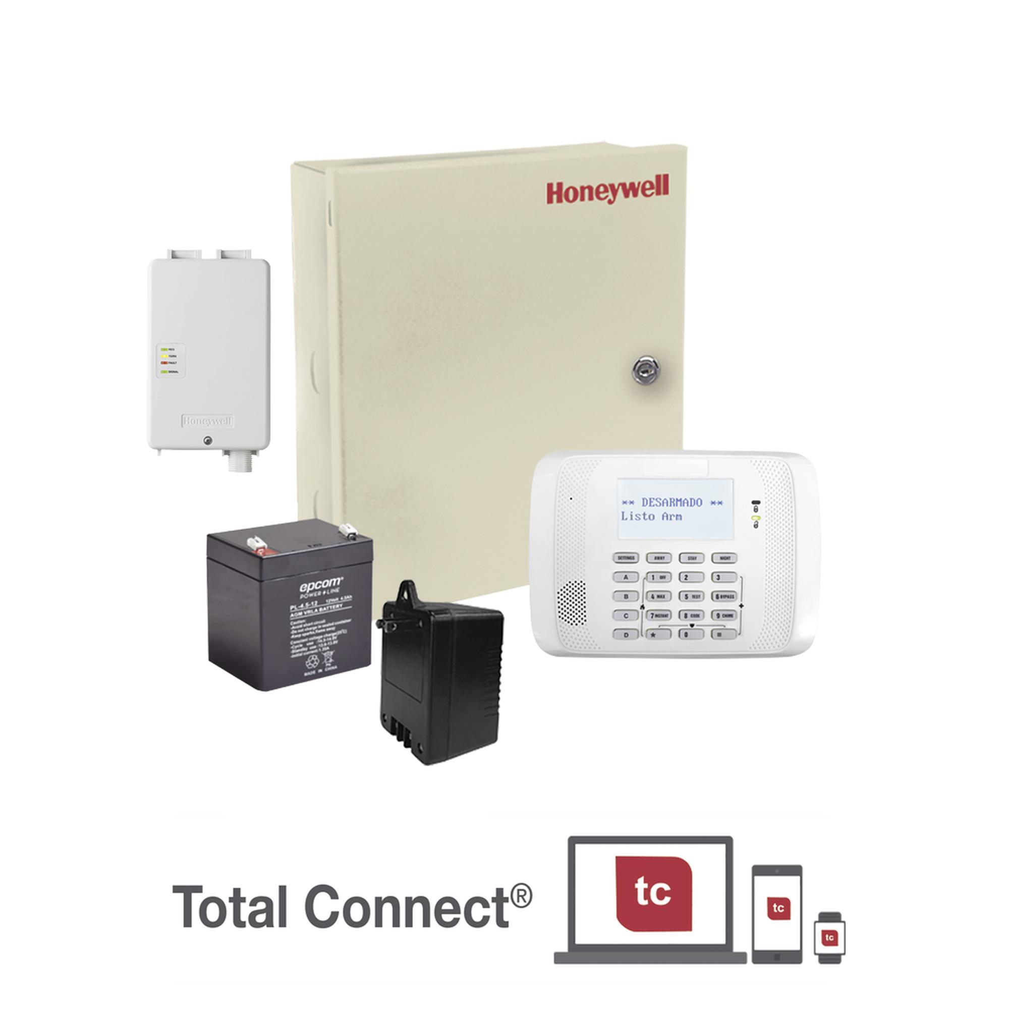 Kit de Panel de Alarma VISTA48LA con Comunicador GSM LTEXA, Batería y Transformador