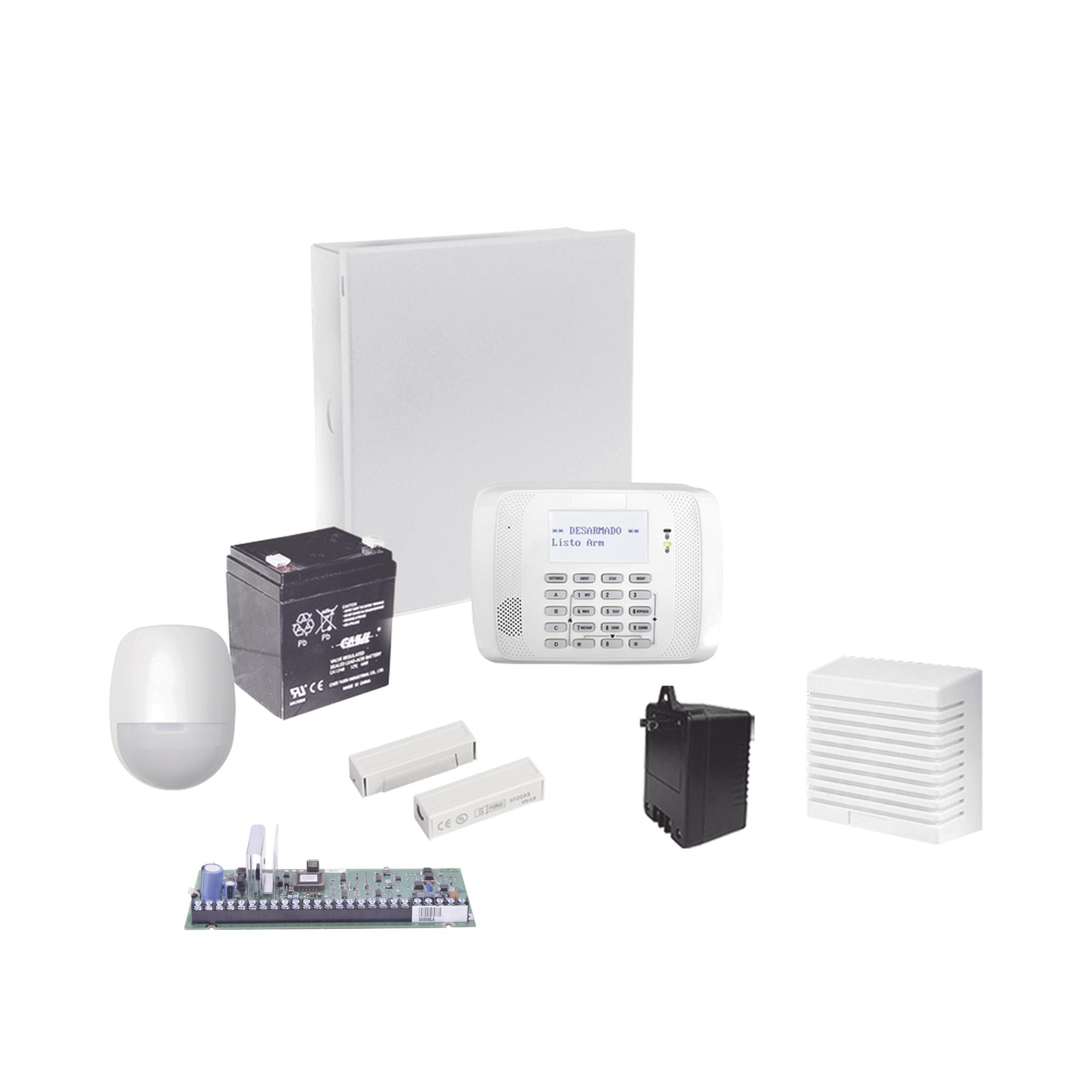 Sistema de Alarma Cableado con Sensores de Movimiento, Contactos de Puerta o Ventana y Sirena