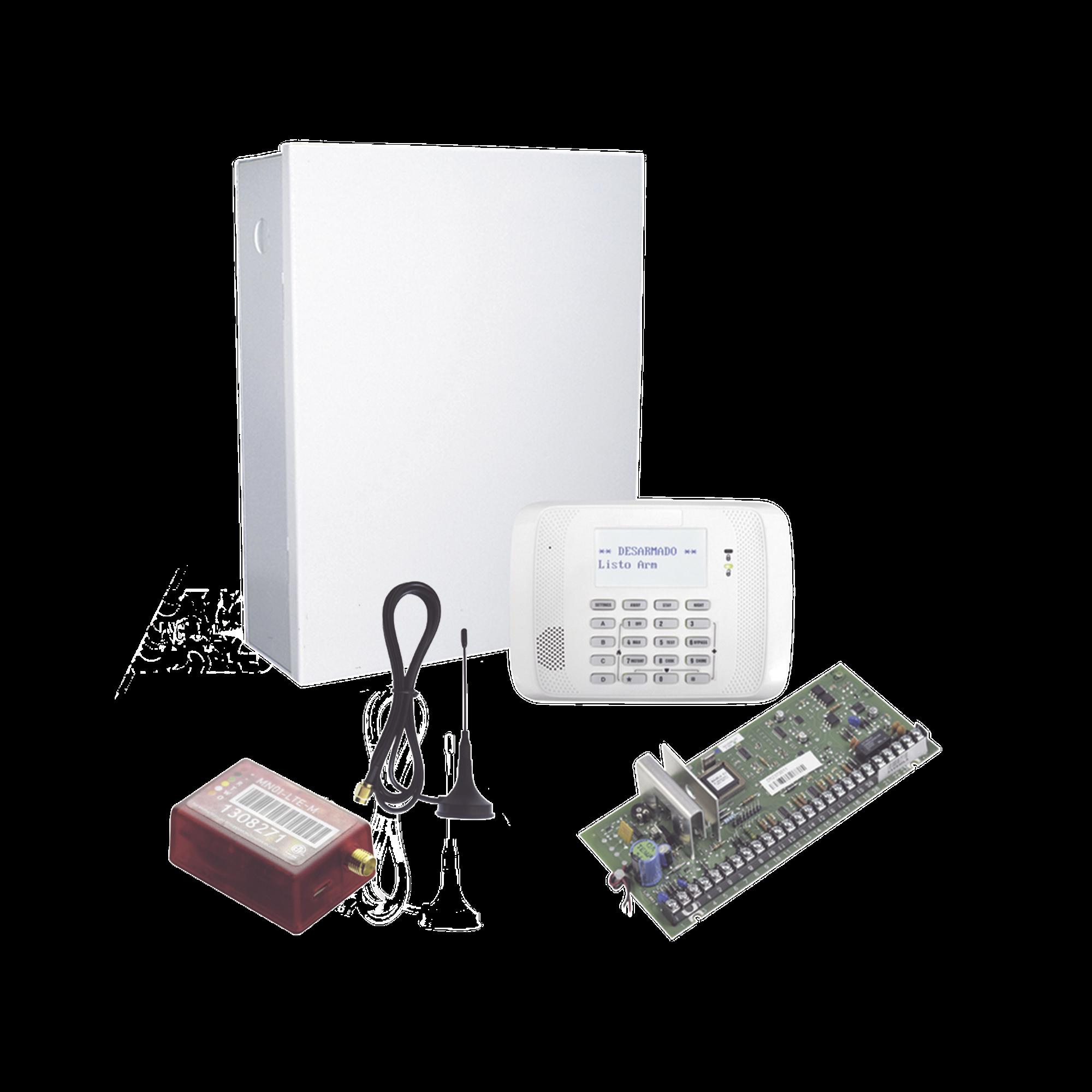 KIT de Panel de Alarma Hibrido/Teclado 6162RF Y Comunicador MN02LTEM - 2 años de servicio incluidos
