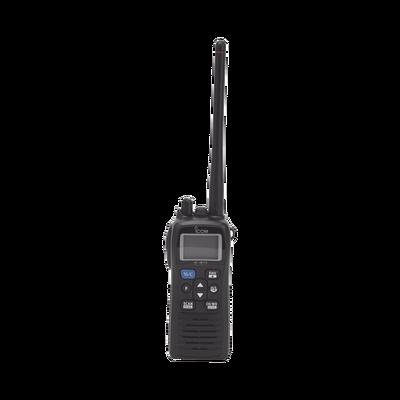 Radio portátil marino de 6W, con función de grabador de voz y cancelación de ruido, sumergible IPX8, 700mW de potencia de audio. Incluye Batería, antena, clip, cargador, cable de encendedor y correa