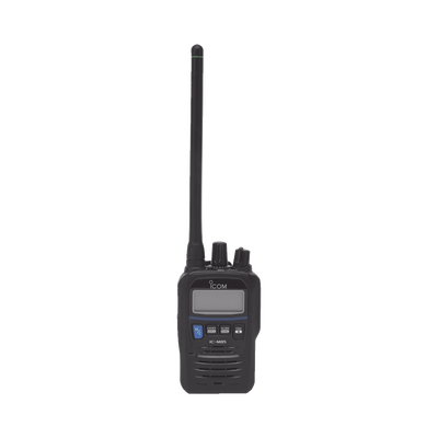 Radio portátil marino y comercial en VHF intrinsecamente seguro (IS). incluye los canales USA, INT, CAN, y del clima