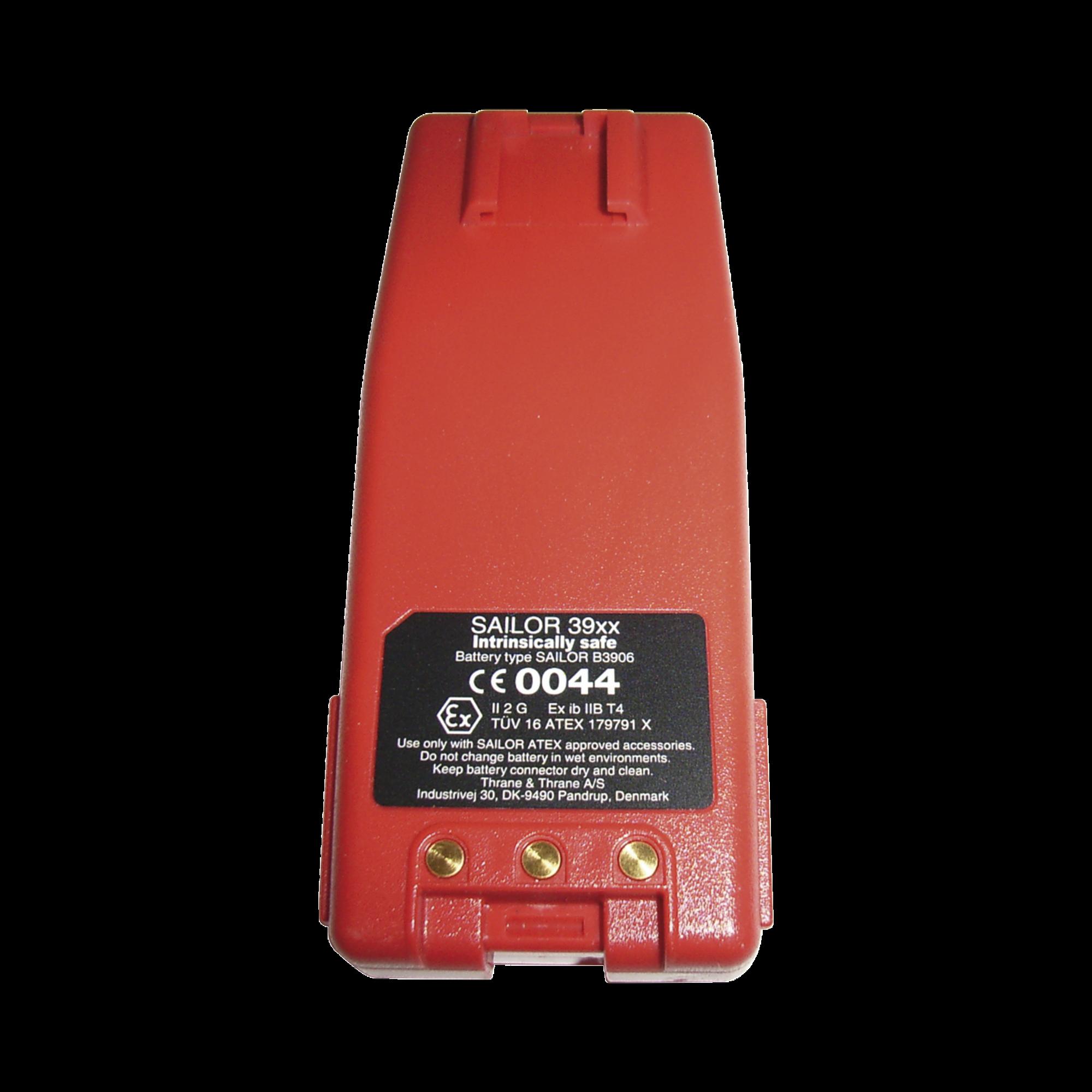 Batería ATEX  de Litio recargable de 7.4V / 1650 mAh para radios SAILOR 3965