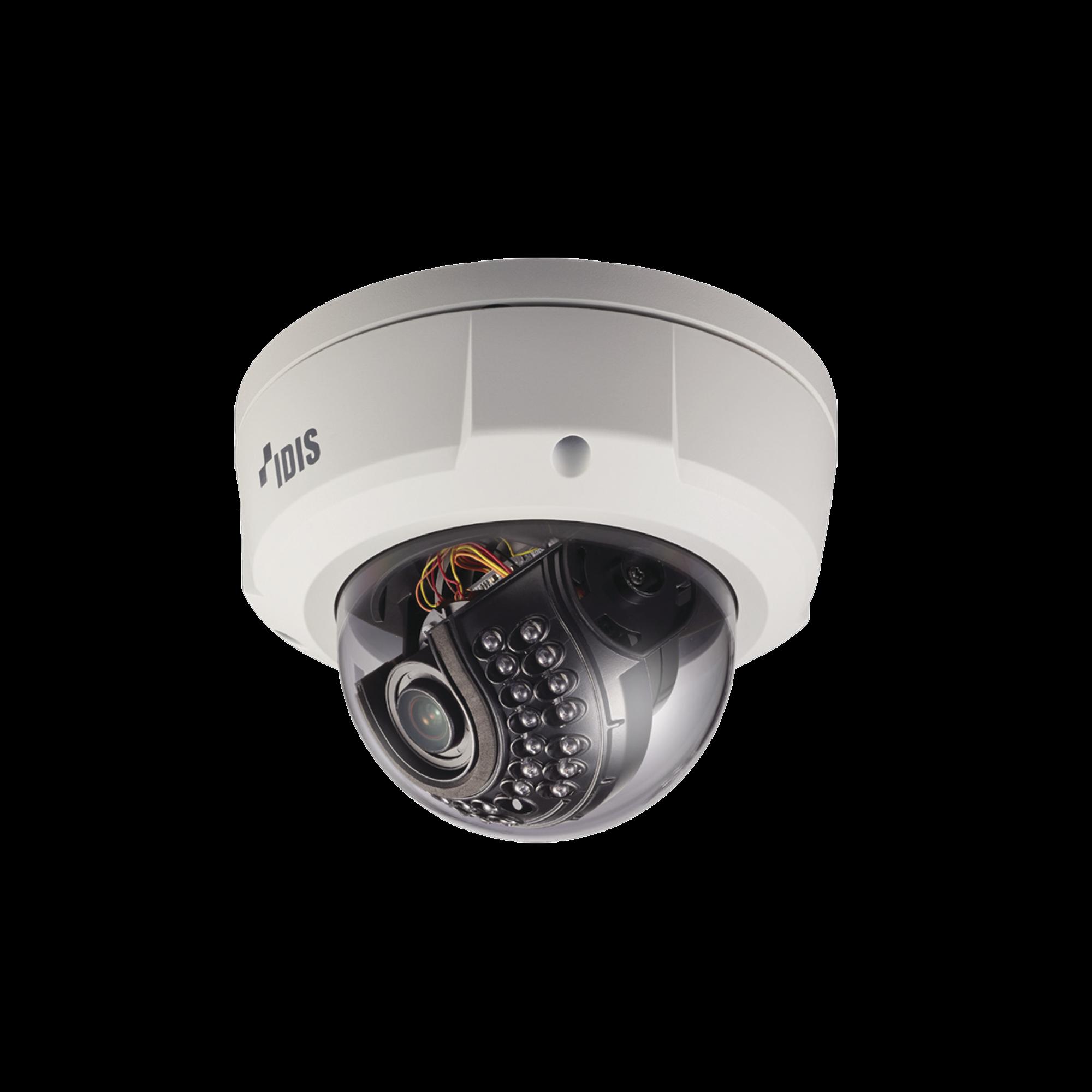 Cámara IP Domo Antivandálico | 2MP (H.265) | Lente MOTORIZADO Varifocal 3.3-10mm | Exterior | Entrada / Salida de Audio y Alarma | IR 20m | WDR 120dB
