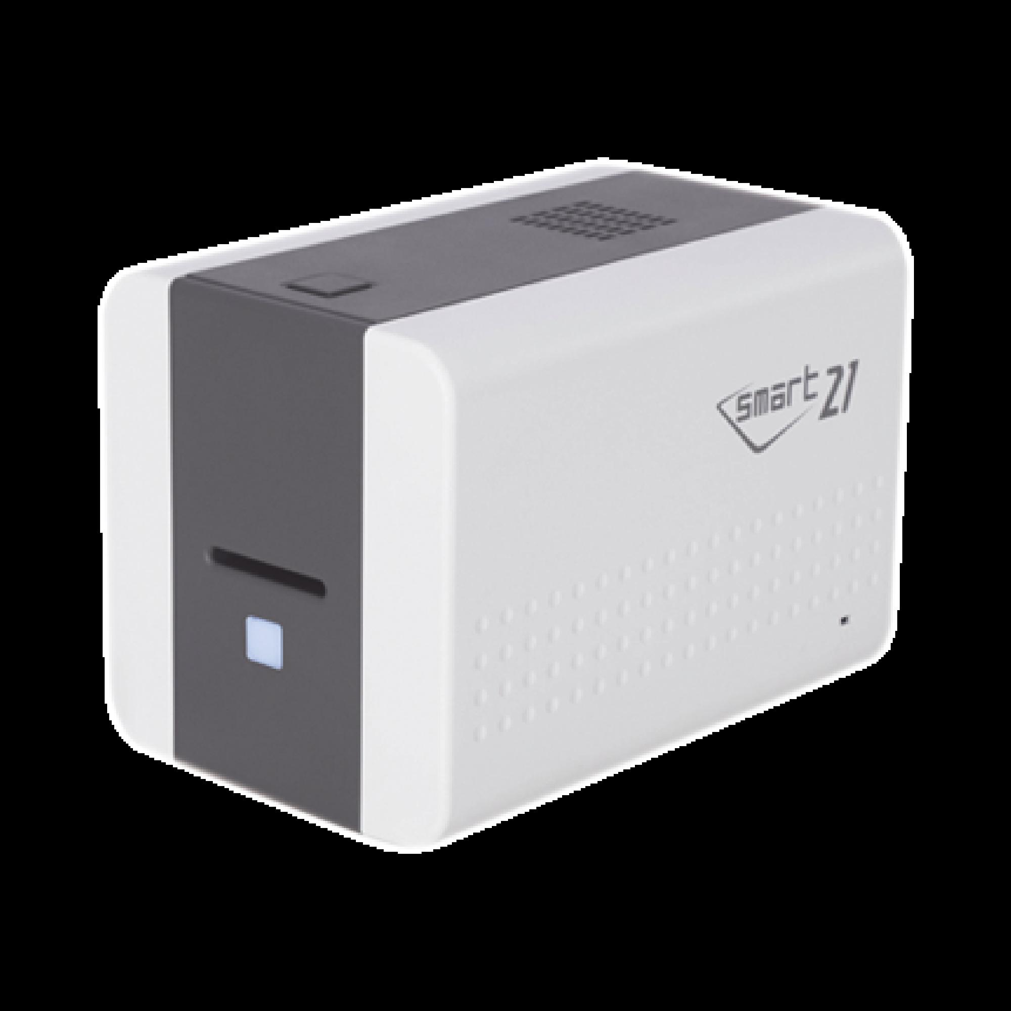 Impresora de Tarjetas Semi- automática SMART21 / Ingreso de Tarjetas Manual/Incluye Ribbon, Software y 100 Tarjetas PVC