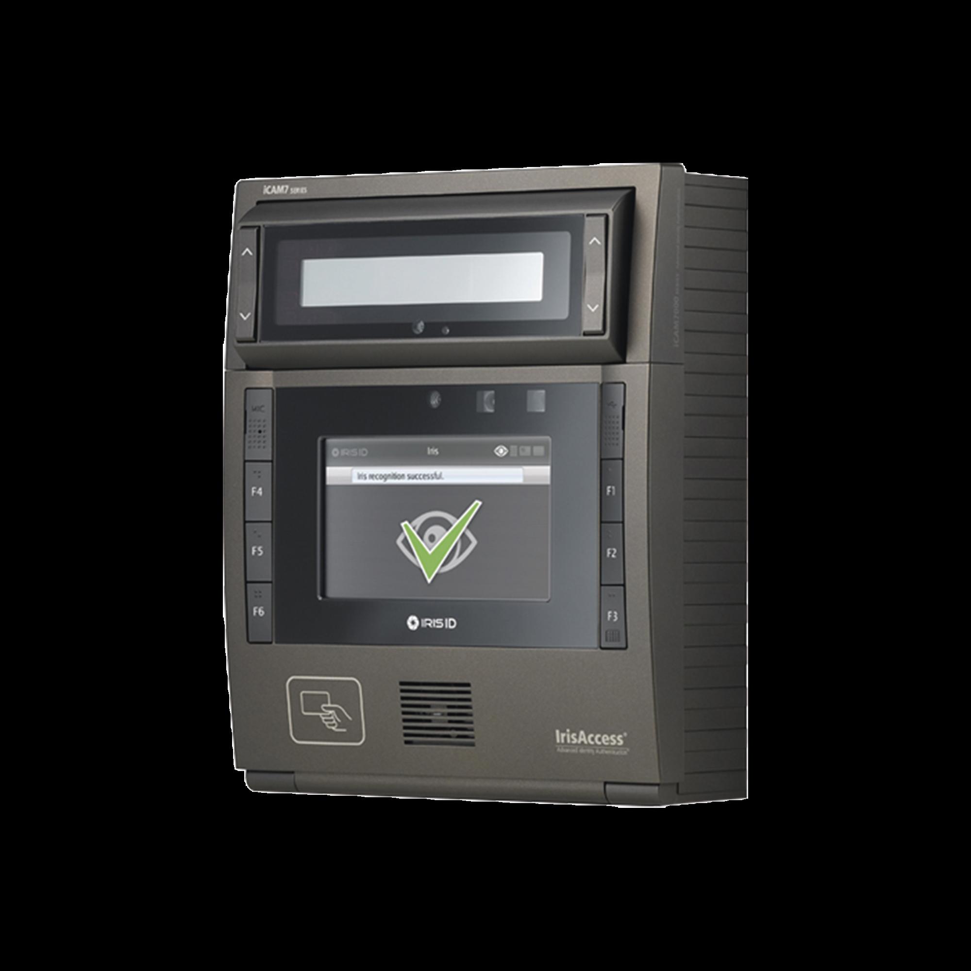 Camara de reconocimiento de Iris  color Negro con lector de (PROX 125 Khz , iClass SE, MiFARE, DESFire, 13.56Mhz cards).