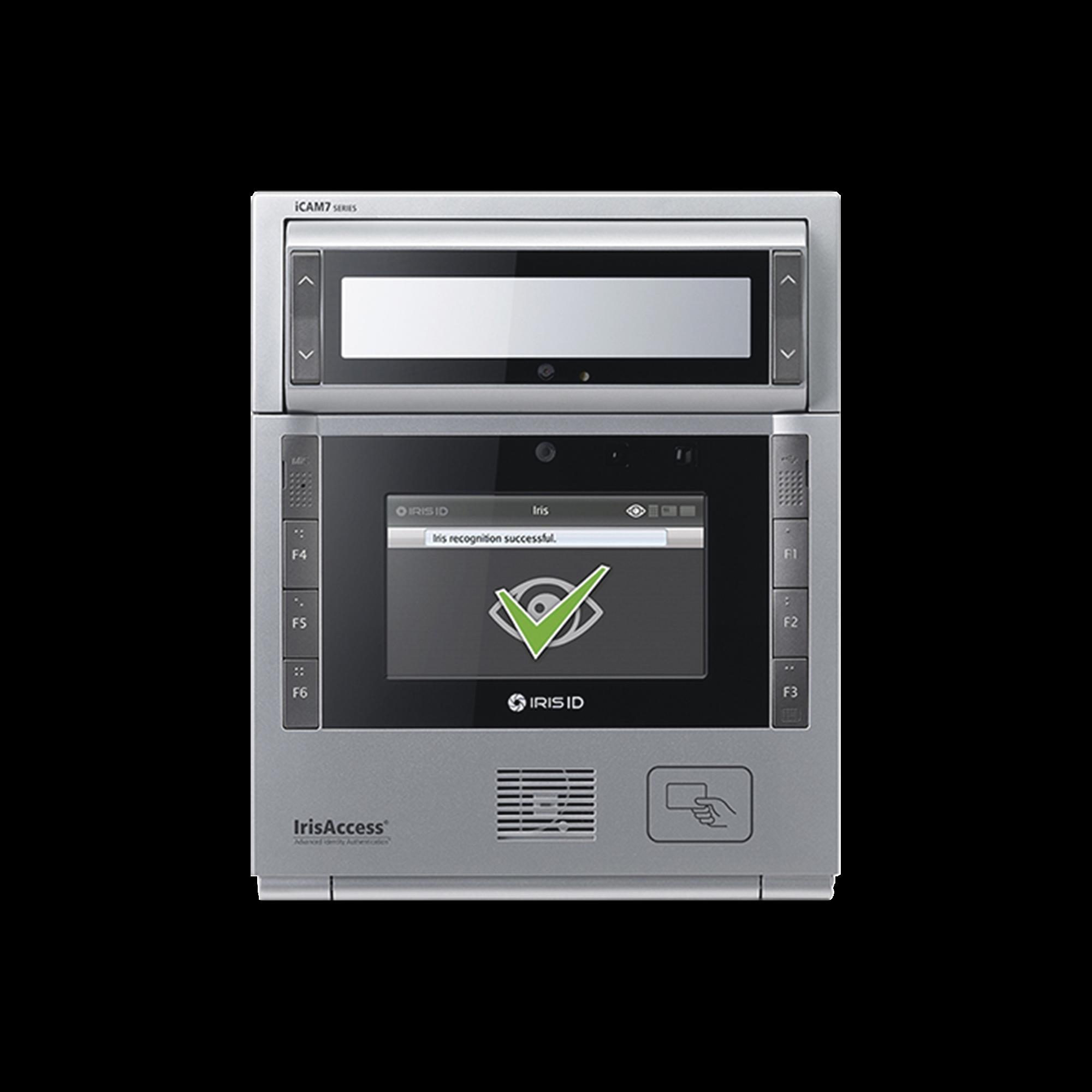 Camara de reconocimiento de Iris color plata con lector (PROX 125 Khz , iClass SE, MiFARE, DESFire, 13.56Mhz cards).