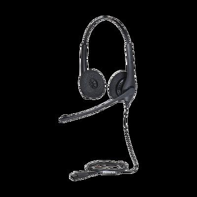 Jabra Biz 1500 Duo, auricular profesional con cancelación de ruido, ideal para contact center con conexión QD (1519-0157)