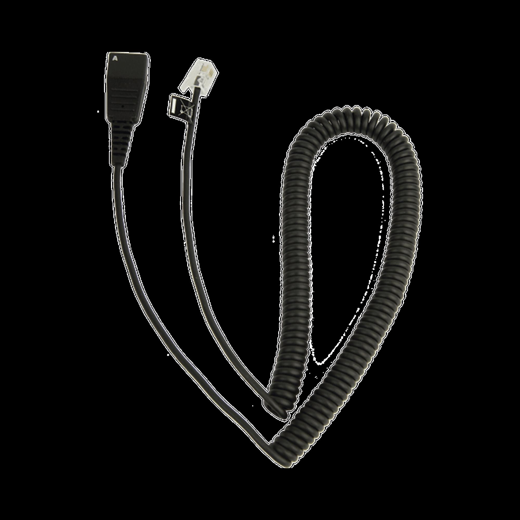 Jabra Cord - Cable enroscado con conexión QD a modular RJ para teléfonos IP de CISCO (8800-01-37)