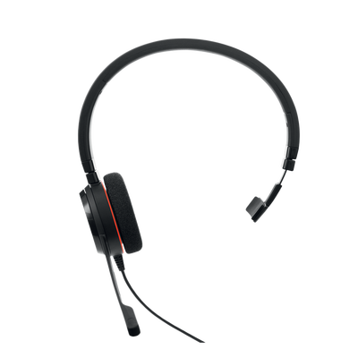 Jabra Evolve 20 Mono con conexión USB, micrófono con cancelación de ruido de última generación, configuración Plug and Play, Certificación Microsoft Teams (4993-823-109)