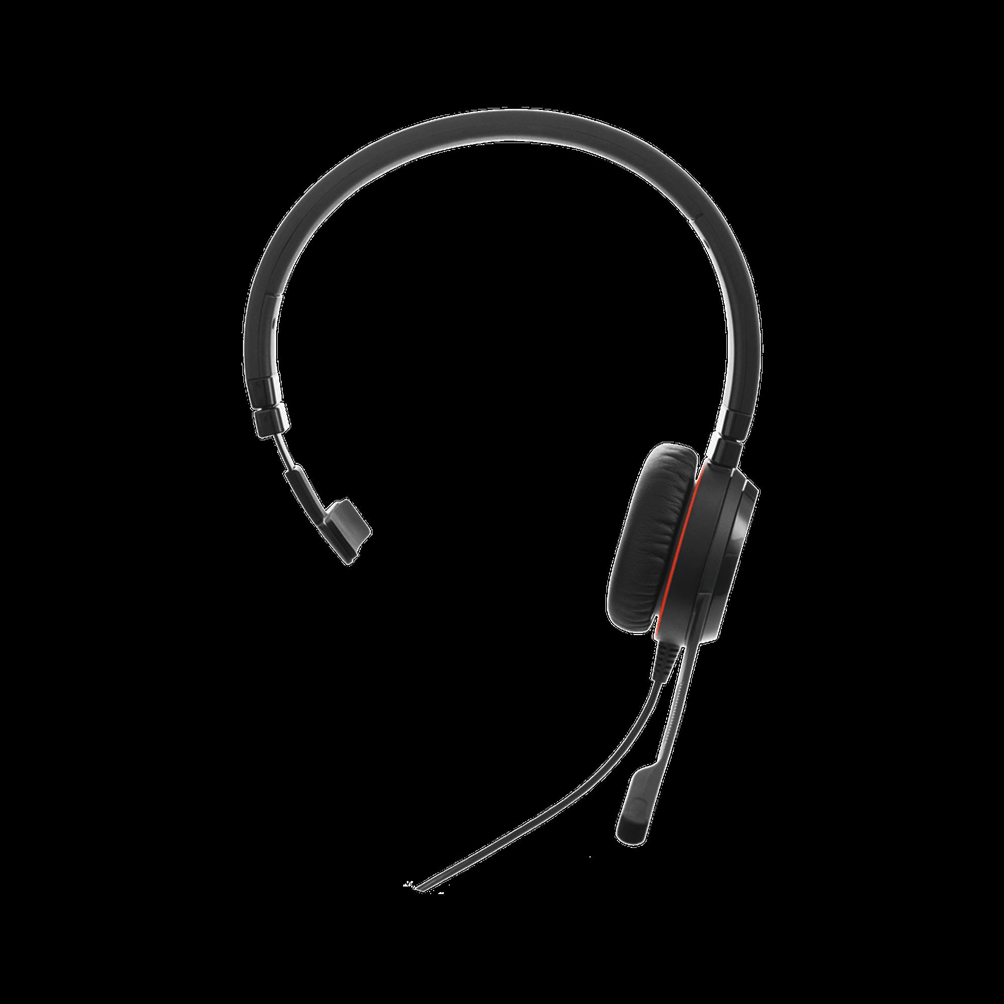 Jabra Evolve 30 Mono con conexion USB / 3.5mm, microfono con cancelacion de ruido y controlador en el cable con botones e indicadores LED, Certificacion Microsoft Teams (5399-823-309)