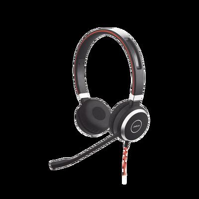 Jabra Evolve 40 Duo con Conexión USB / 3.5 mm, indicador de ocupado y cancelación de ruido pasiva (6399-823-109)