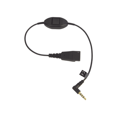 Jabra Cord QD a conector de 3.5 mm con Push-to-Talk para teléfonos celulares smartphones (8800-00-103)