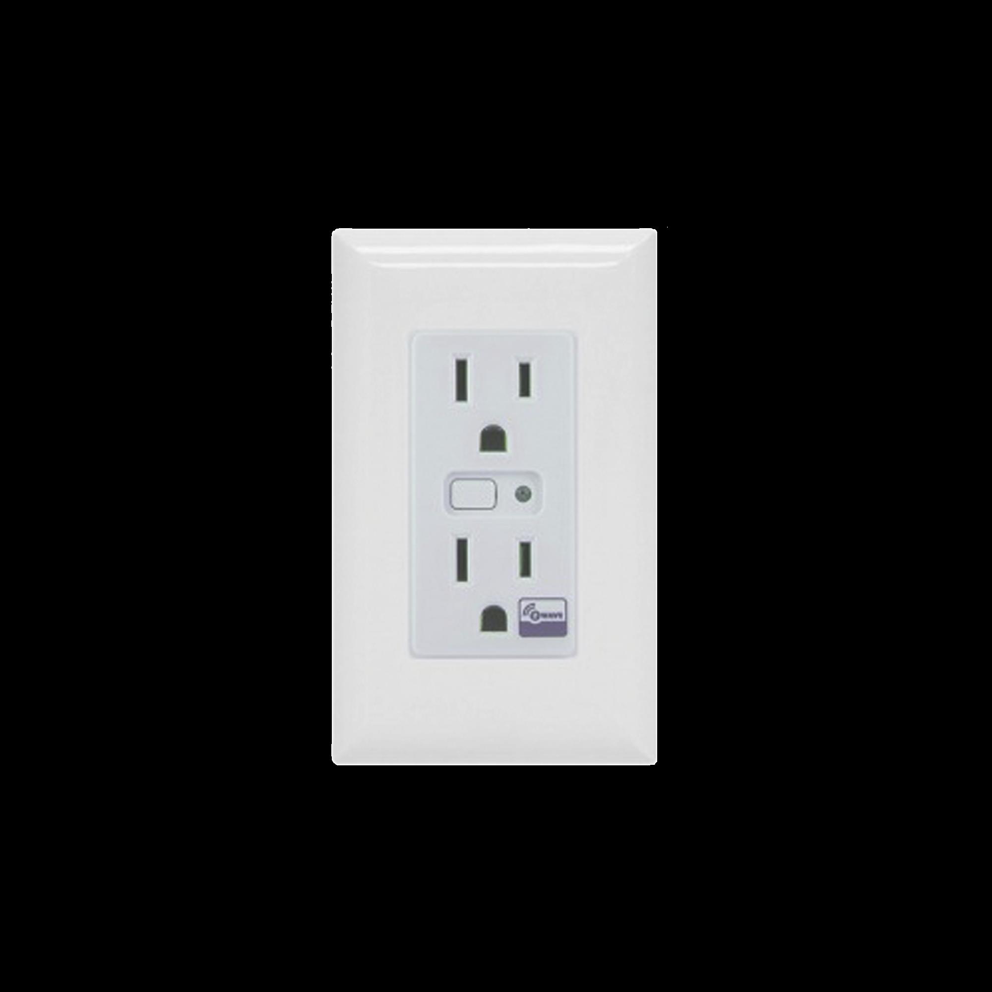 Tomacorriente con señal inalambrica Z-WAVE, requiere agregarse a un HUB HC7, puede ser un panel de alarma L5210, L7000 con Total Connect