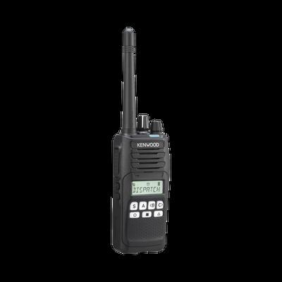 136-174 MHz, NXDN-Analógico, 5 Watts, 260 Canales, 9 Teclas, Roaming, Encriptación, GPS, Inc. antena, batería, cargador y clip