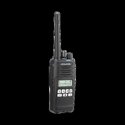 136-174 MHz, NXDN-Analógico, Intrínseco, 5 Watts, 260 Canales, 9 Teclas, Roaming, Encriptación, GPS, Inc. antena, batería, cargador y clip