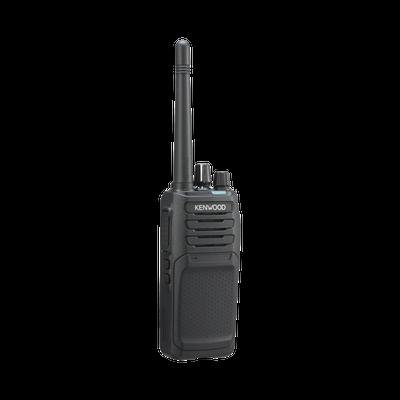 450-520 MHz, DMR-Analógico, 5 Watts, 64 Canales, Roaming, Encriptación, GPS, Inc. antena, batería, cargador y clip