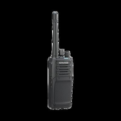 400-470 MHz, DMR-Analógico, 5 Watts, 64 Canales, Roaming, Encriptación, GPS, Inc. antena, batería, cargador y clip