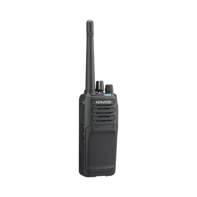 450-520 MHz, NXDN-Analógico, 5 Watts, 64 Canales, Roaming, Encriptación, GPS, Inc. antena, batería, cargador y clip