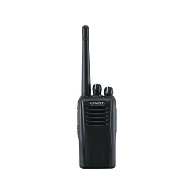 450-520 MHz, 5 W de potencia,64 canales sin pantalla. Incluye Batería, Antena, cargador y clip.