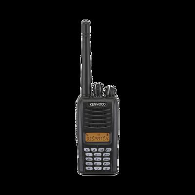 400 - 470 MHz, 5 W, 260 canales con Pantalla y DTMF. Incluye batería, antena, cargador y clip.