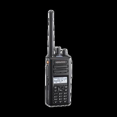 136-174 MHz, 260 Canales, NXDN-DMR-Análogo, GPS, Bluetooth, IP67, 2 Pines, Intr. Seg, Inc. Batería-Antena-Cargador-Clip