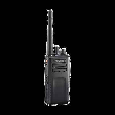 136-174 MHz, 64 Canales, NXDN-DMR-Análogo, GPS, Bluetooth, IP67, 2 Pines, Intr. Seg. Inc. Batería-Antena-Cargador-Clip
