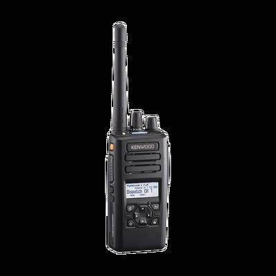 400-520 MHz, 260 Canales, NXDN-DMR-Análogo, GPS, Bluetooth, IP67, 2 Pines, Intr. Seg, Inc. Batería-Antena-Cargador-Clip
