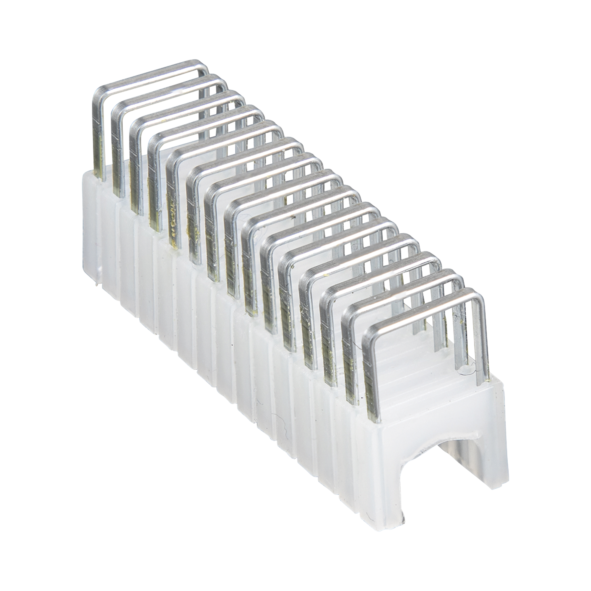 Grapas con Aislamiento,  para Cables Coaxiales (RG59, RG6/6Q) y de Datos (CAT3/5e/CAT6/6A) de hasta 5/16 ? 5/16 (8 mm ? 8 mm) de tamaño.