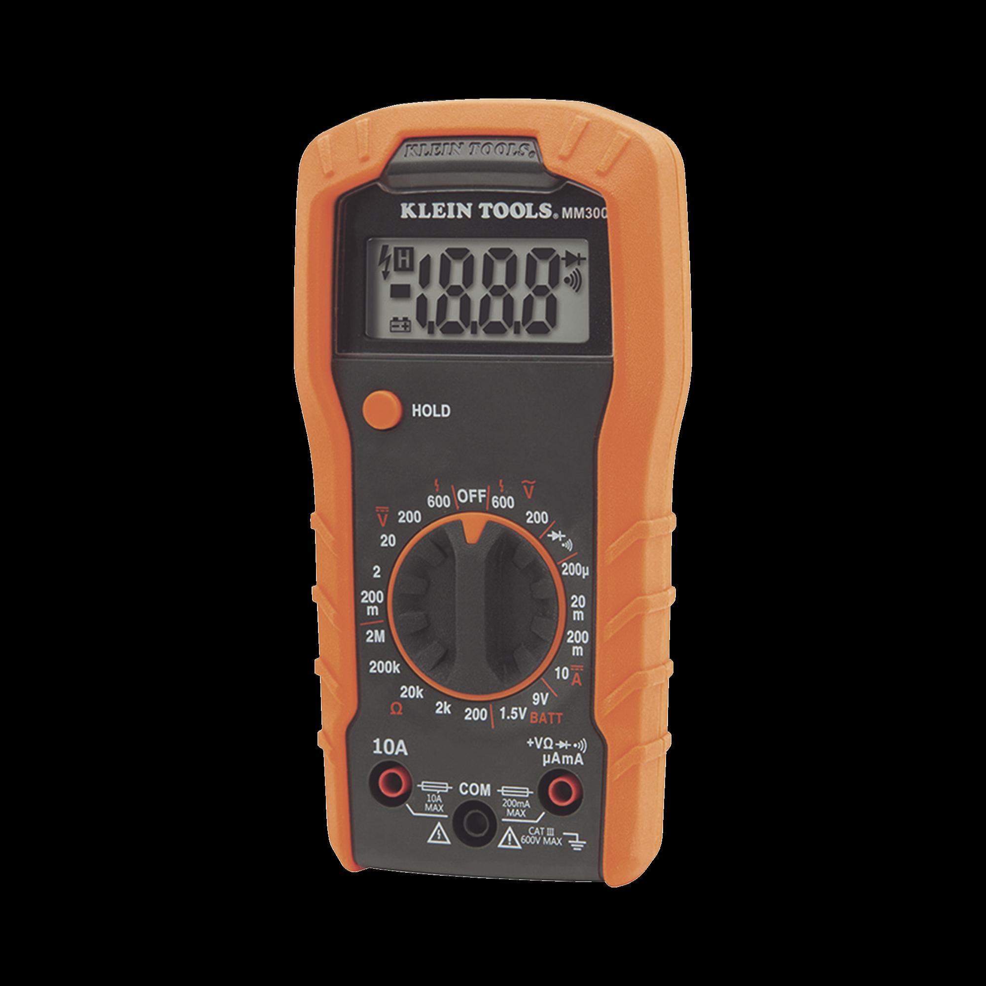 Multímetro Digital con Selección Manual de Rango de 600 V.