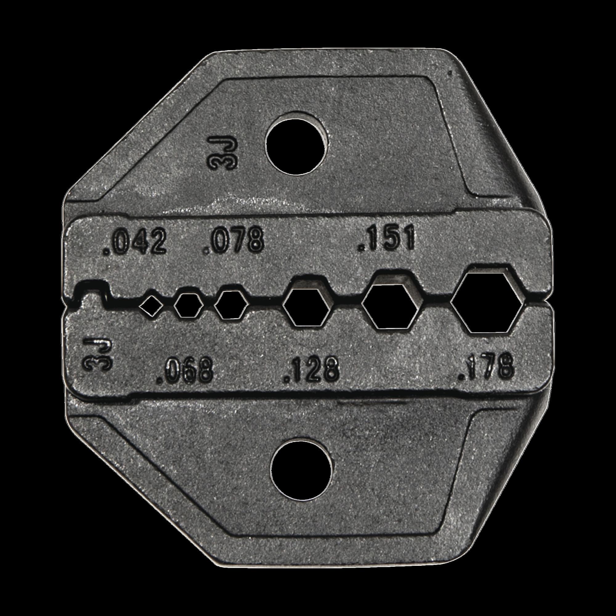Matriz Ponchadora para RG174, RG179 y Belden 8218.