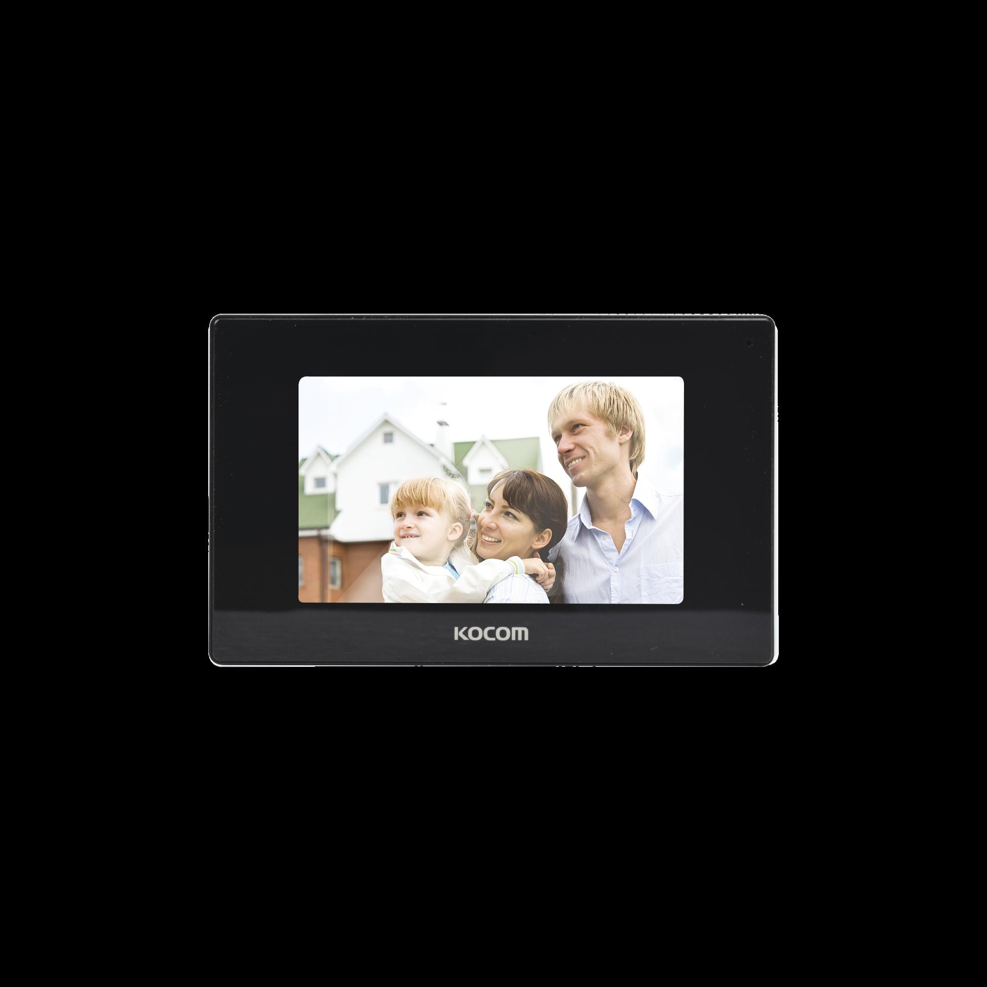 Monitor 7 color negro, alta definicion (HD), con entrada para microSD para grabacion