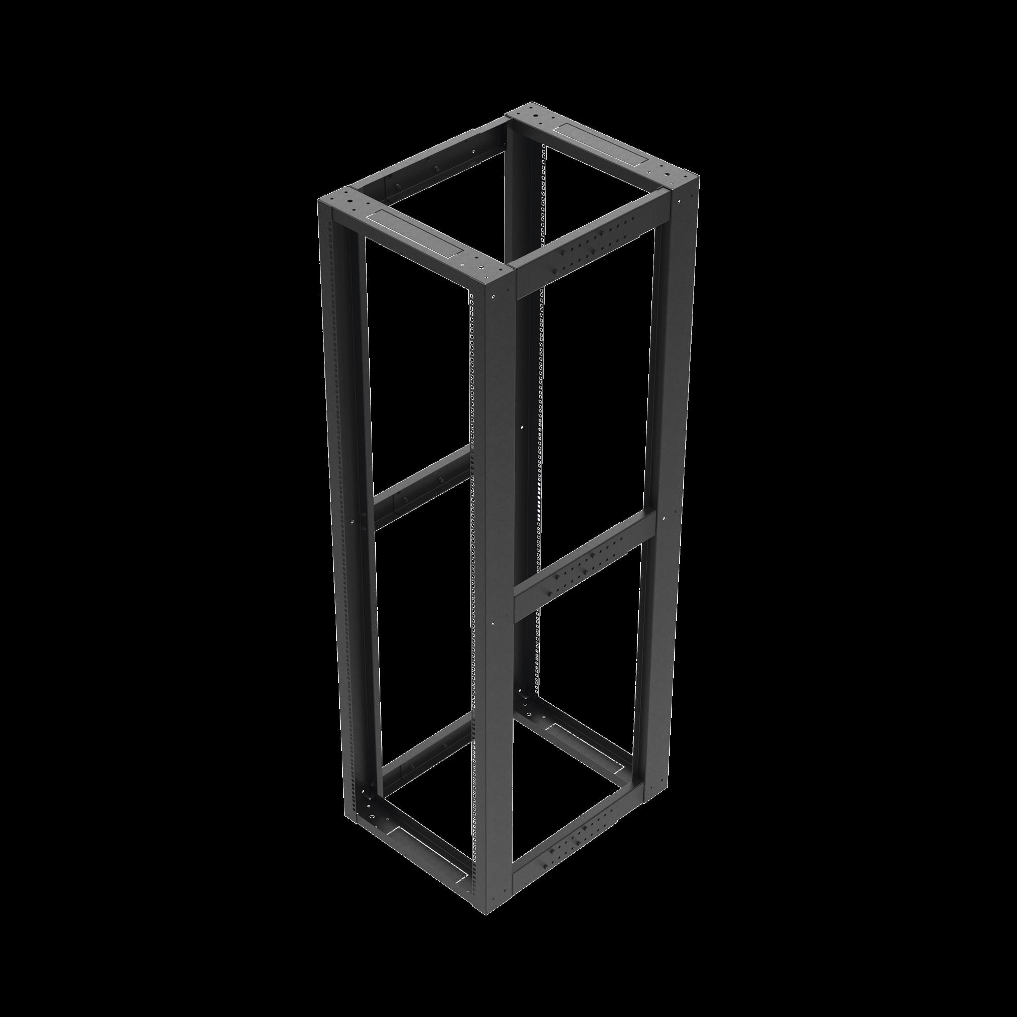 Rack Estándar 19 de 4 Postes, Acero, 42 Unidades, Profundidad Ajustable.