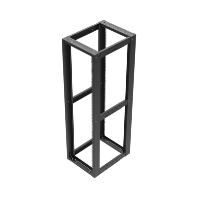 """Rack Estándar 19"""" de 4 Postes, Acero, 42 Unidades, Profundidad Ajustable."""