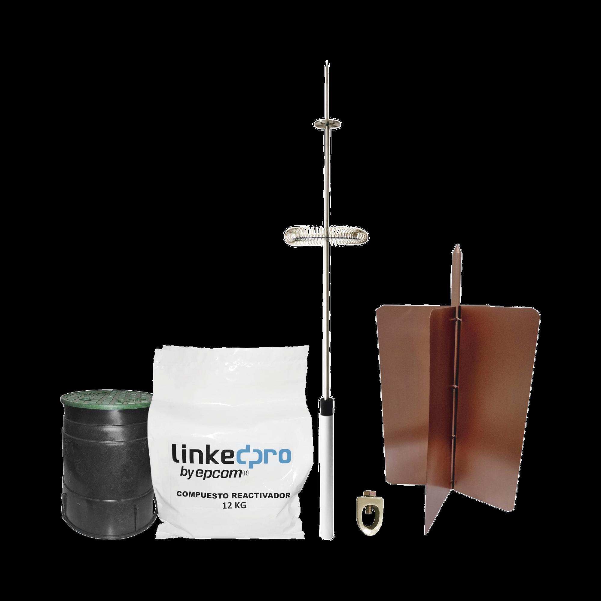 Kit pararrayo LinkedPro básico. Ideal para la protección de mástiles y postes.