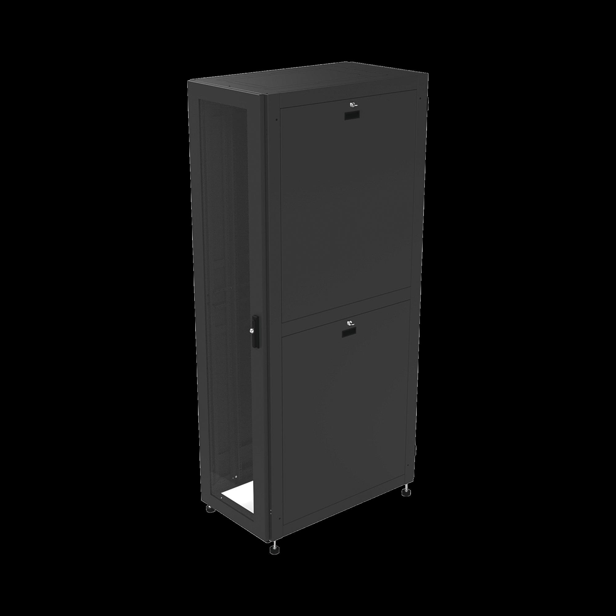 Gabinete Profesional para Telecomunicaciones de 48UR, 600 mm de Ancho x 1000 mm de Profundidad.