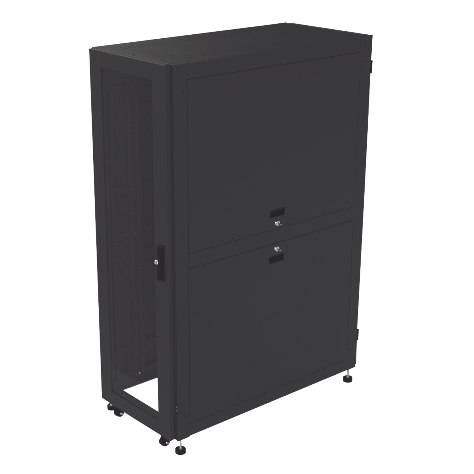 Gabinete Profesional para Telecomunicaciones de 37UR, 600 mm de Ancho x 1200 mm de Profundidad.