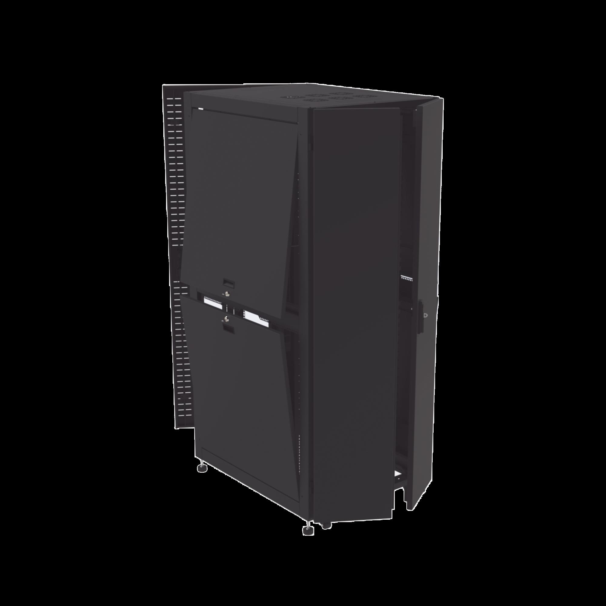 Gabinete para Telecomunicaciones Rack Estándar de 19, 42UR, 800 mm Ancho x 1000 mm Profundidad. Fabricado en Acero.