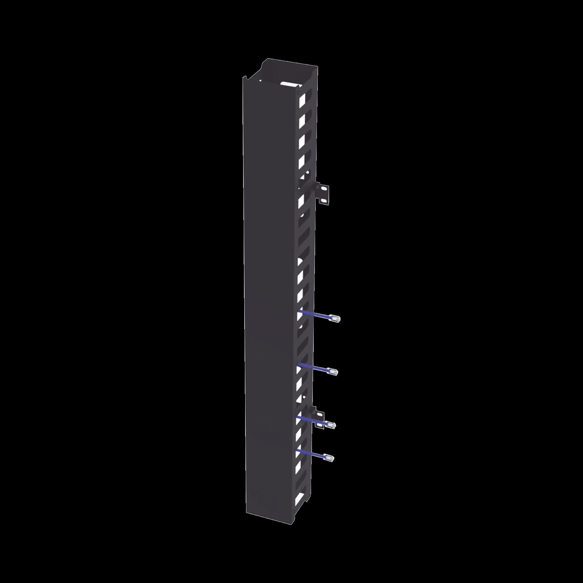 Kit Organizador Vertical de Cable Sencillo para Rack Abierto de 24 Unidades para EIQR3224 y EIRL5524DR.