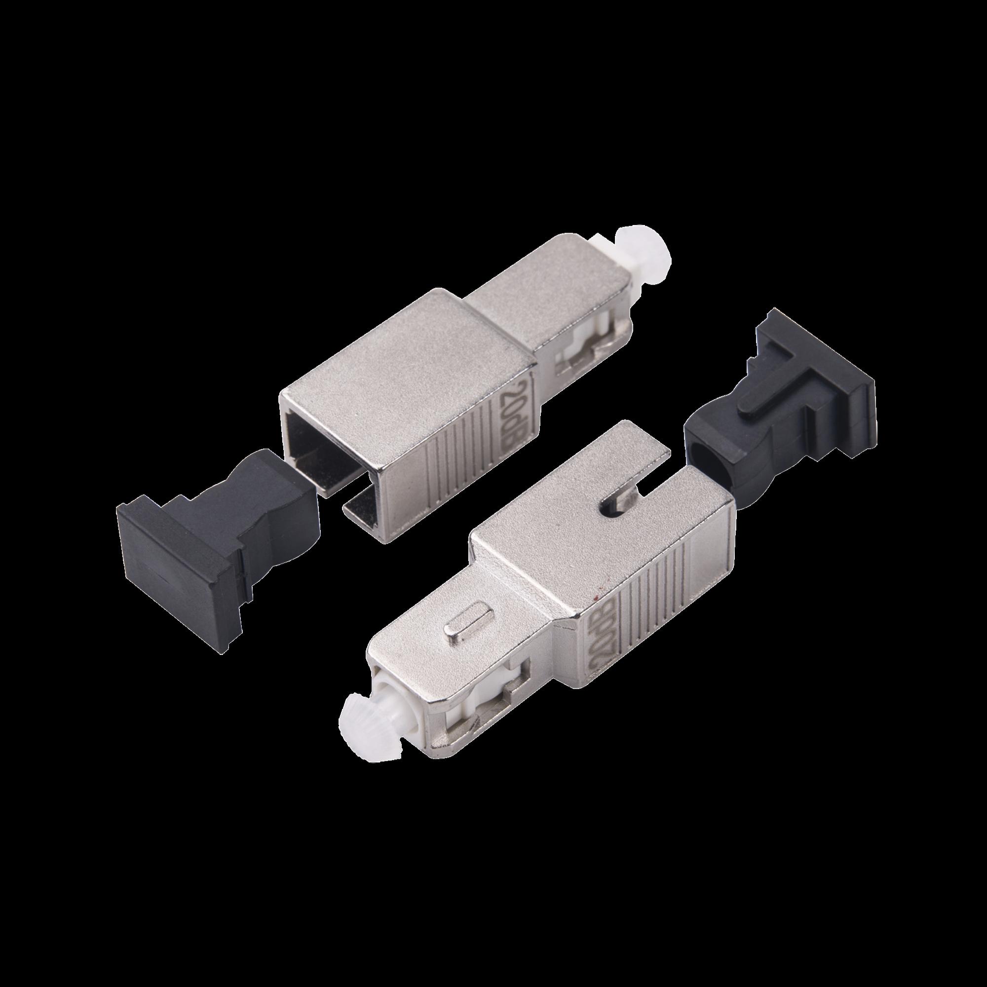 Atenuador óptico macho-hembra con conector SC/UPC de 15dB para fibra Monomodo