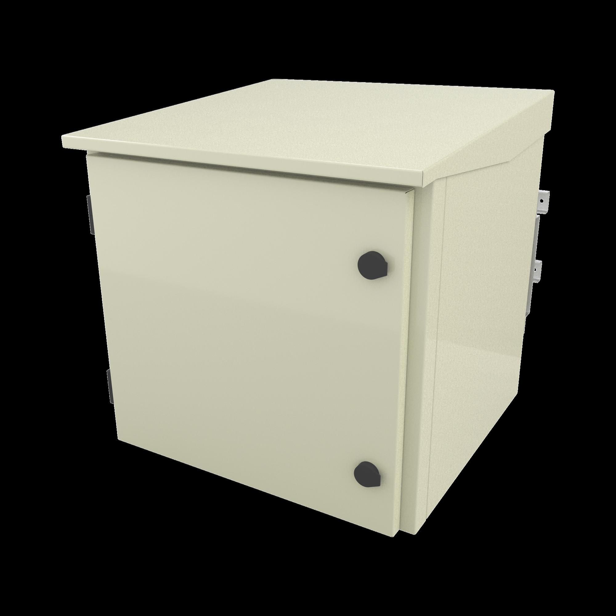 Gabinete para Poste/Torre/Pared de Exterior con Ventiladores y Termostato con Rack de 19 de 9 U.