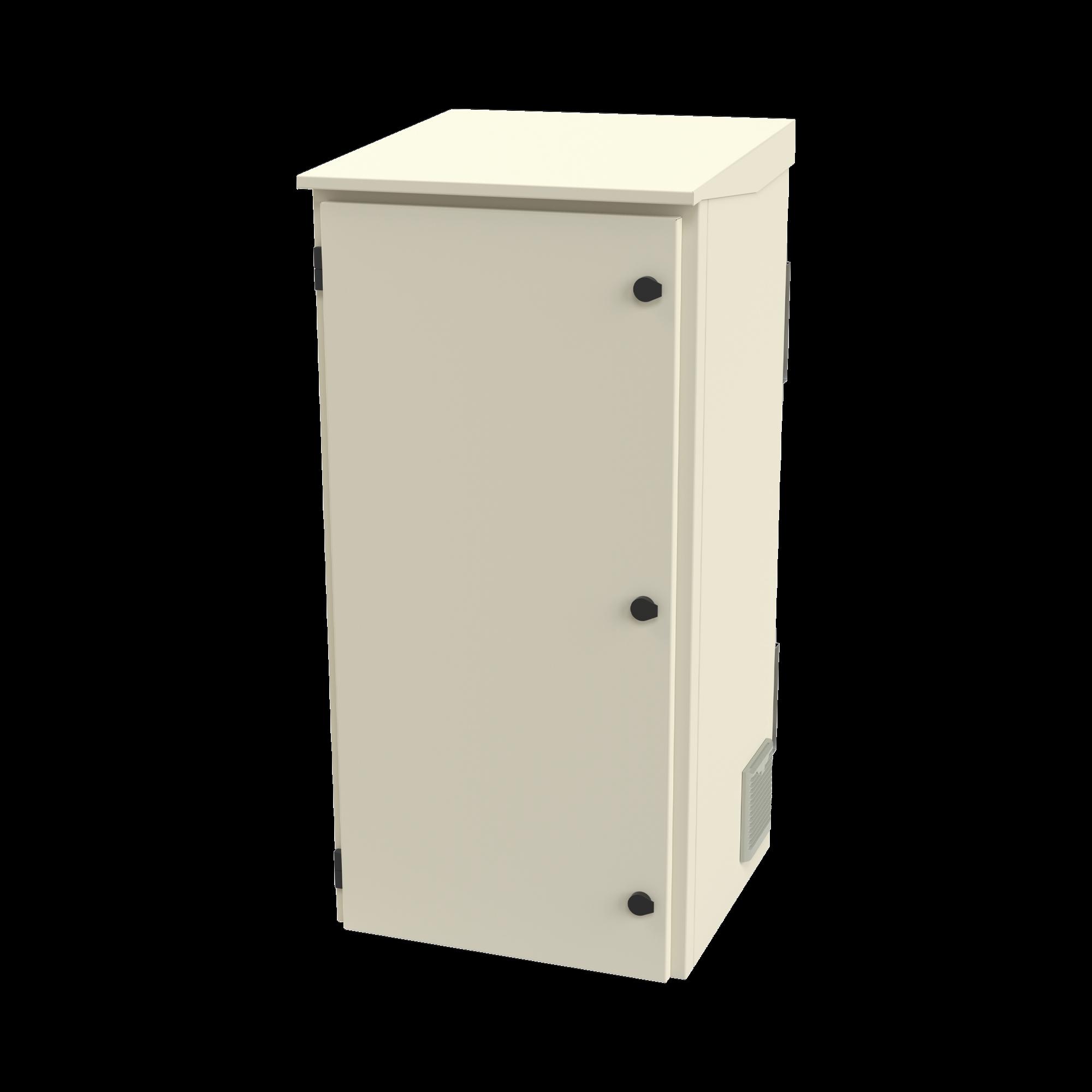 Gabinete de Exterior con Rack de 19 de 24U con Ventiladores y Termostato (Montaje a poste o torre se vende por separado).