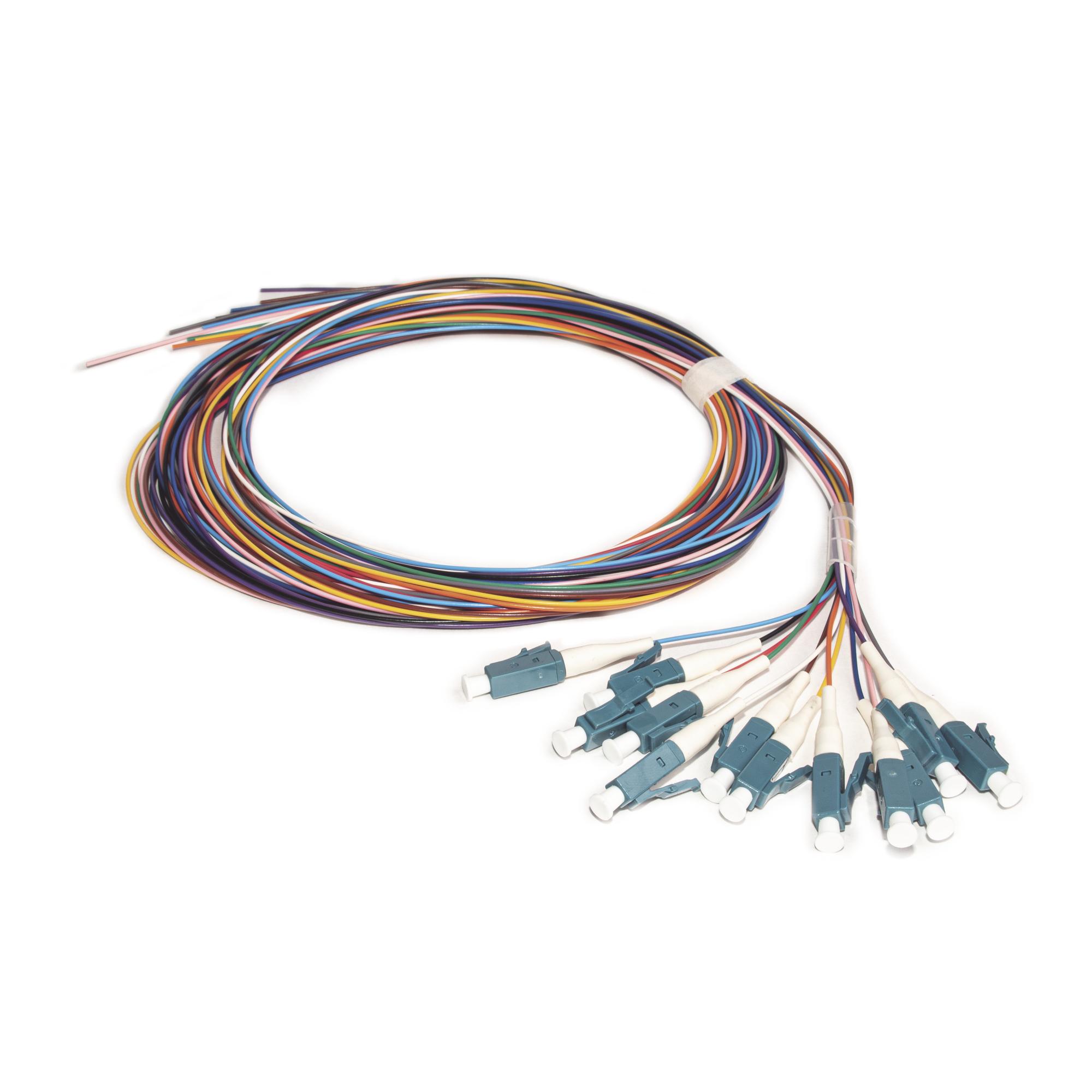 Kit de 12 Pigtails LC/UPC Monomodo 2 metros