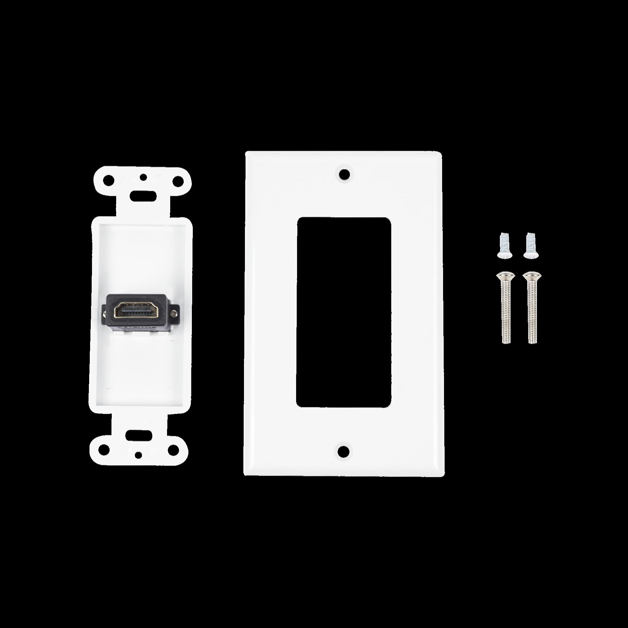Placa de pared 1 puerto HDMI hembra a hembra