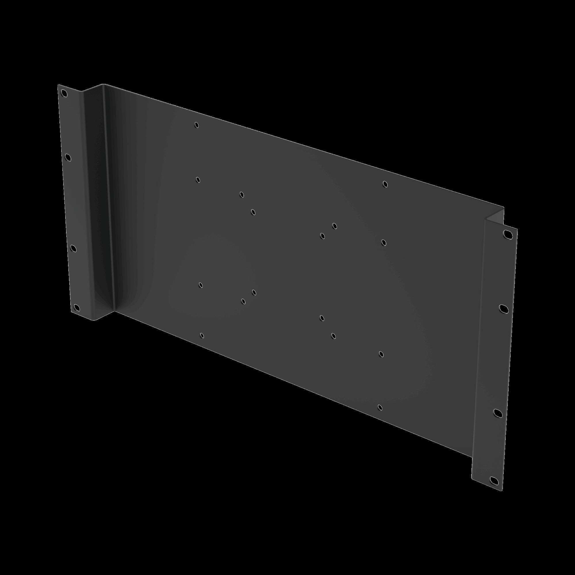 Montaje para Monitor VESA 75x75 hasta 200x200. Compatible con rack 19 5U.