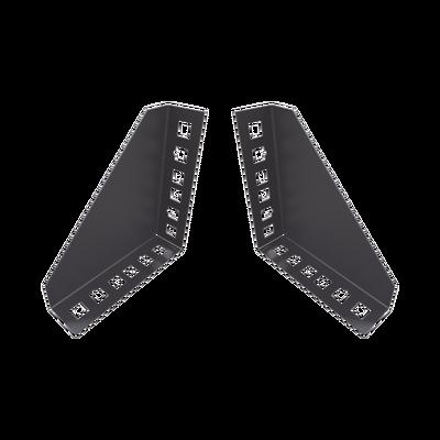 Par de Sujetadores para Instalación de Equipo Rackeable en placa o pared (hasta 2U).